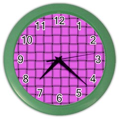 Ultra Pink Weave  Wall Clock (Color)