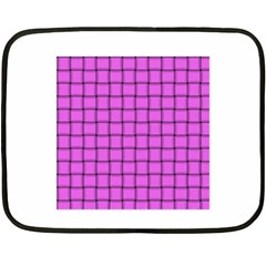 Ultra Pink Weave  Mini Fleece Blanket (Two-sided)