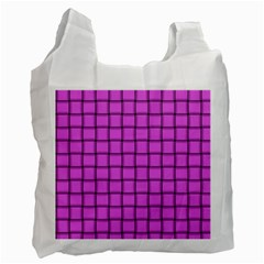 Ultra Pink Weave  Recycle Bag (One Side)