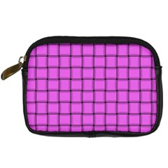 Ultra Pink Weave  Digital Camera Leather Case