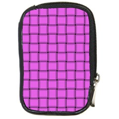 Ultra Pink Weave  Compact Camera Leather Case
