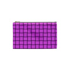 Ultra Pink Weave  Cosmetic Bag (Small)