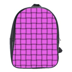 Ultra Pink Weave  School Bag (Large)