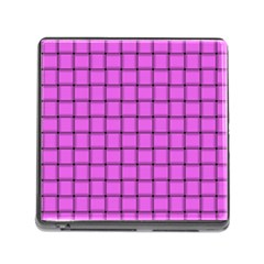 Ultra Pink Weave  Memory Card Reader with Storage (Square)