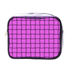 Ultra Pink Weave  Mini Travel Toiletry Bag (one Side)
