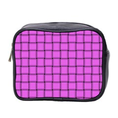 Ultra Pink Weave  Mini Travel Toiletry Bag (Two Sides)