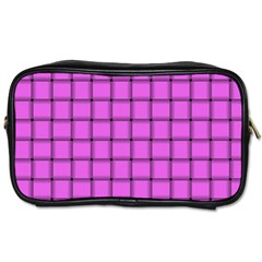 Ultra Pink Weave  Travel Toiletry Bag (Two Sides)