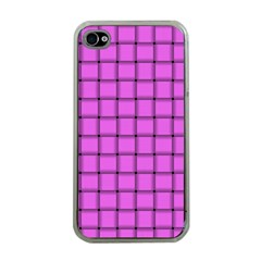 Ultra Pink Weave  Apple iPhone 4 Case (Clear)