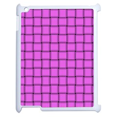 Ultra Pink Weave  Apple iPad 2 Case (White)