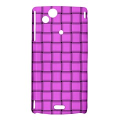 Ultra Pink Weave  Sony Xperia Arc Hardshell Case