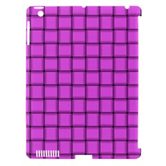 Ultra Pink Weave  Apple Ipad 3/4 Hardshell Case (compatible With Smart Cover)