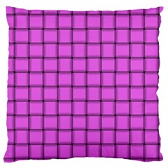 Ultra Pink Weave  Large Cushion Case (Two Sides)