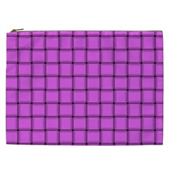 Ultra Pink Weave  Cosmetic Bag (XXL)