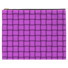 Ultra Pink Weave  Cosmetic Bag (XXXL)