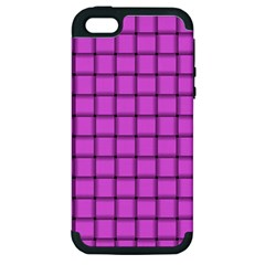 Ultra Pink Weave  Apple iPhone 5 Hardshell Case (PC+Silicone)
