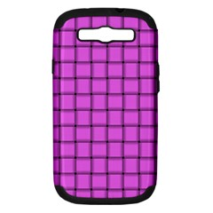 Ultra Pink Weave  Samsung Galaxy S Iii Hardshell Case (pc+silicone)