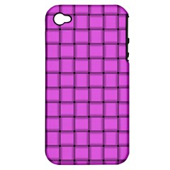 Ultra Pink Weave  Apple Iphone 4/4s Hardshell Case (pc+silicone)