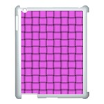 Ultra Pink Weave  Apple iPad 3/4 Case (White) Front