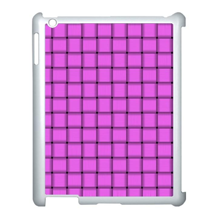 Ultra Pink Weave  Apple iPad 3/4 Case (White)