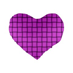 Ultra Pink Weave  16  Premium Heart Shape Cushion