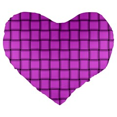 Ultra Pink Weave  19  Premium Heart Shape Cushion