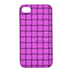Ultra Pink Weave  Apple Iphone 4/4s Hardshell Case With Stand