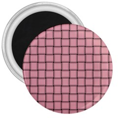 Light Pink Weave 3  Button Magnet