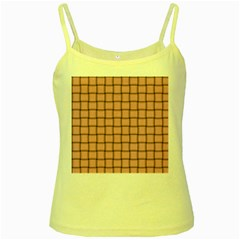 Light Pink Weave Yellow Spaghetti Tank