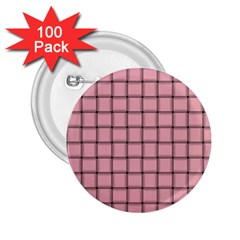 Light Pink Weave 2.25  Button (100 pack)