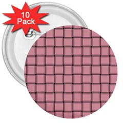 Light Pink Weave 3  Button (10 pack)
