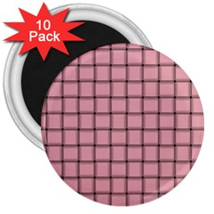 Light Pink Weave 3  Button Magnet (10 pack)