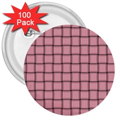 Light Pink Weave 3  Button (100 pack)