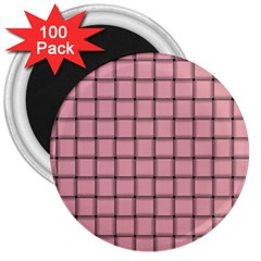 Light Pink Weave 3  Button Magnet (100 pack)