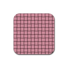 Light Pink Weave Drink Coasters 4 Pack (Square)