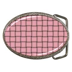 Light Pink Weave Belt Buckle (oval)