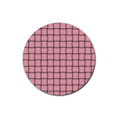 Light Pink Weave Drink Coasters 4 Pack (Round)