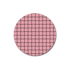 Light Pink Weave Magnet 3  (Round)