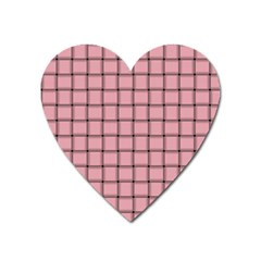 Light Pink Weave Magnet (heart)