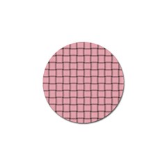 Light Pink Weave Golf Ball Marker 4 Pack