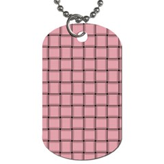 Light Pink Weave Dog Tag (Two Sided)