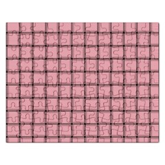 Light Pink Weave Jigsaw Puzzle (rectangle)