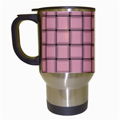 Light Pink Weave Travel Mug (White)