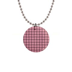 Light Pink Weave Button Necklace