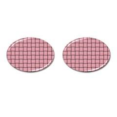 Light Pink Weave Cufflinks (Oval)