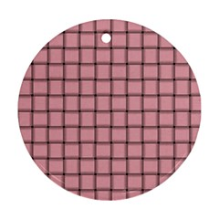 Light Pink Weave Round Ornament (two Sides)