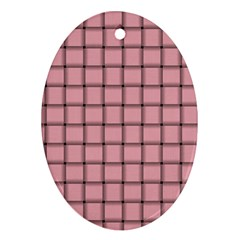 Light Pink Weave Oval Ornament (Two Sides)