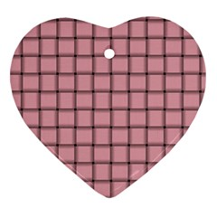 Light Pink Weave Heart Ornament (Two Sides)