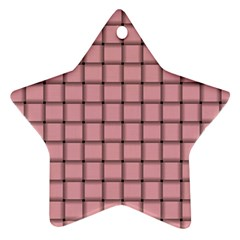 Light Pink Weave Star Ornament (Two Sides)