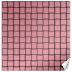 Light Pink Weave Canvas 16  x 16  (Unframed)
