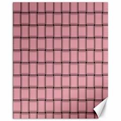 Light Pink Weave Canvas 16  x 20  (Unframed)